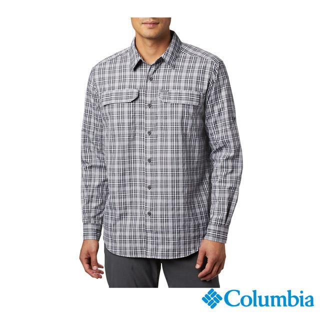 Columbia 哥倫比亞 男款-UPF50快排長袖襯衫-黑色 UAE06490BK