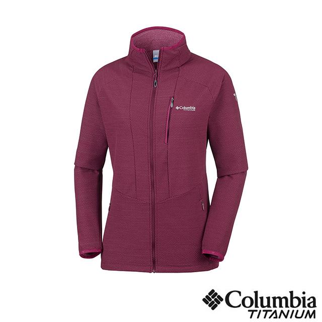 Columbia哥倫比亞 女款-鈦 防潑彈性外套紫紅 UAR26480PD