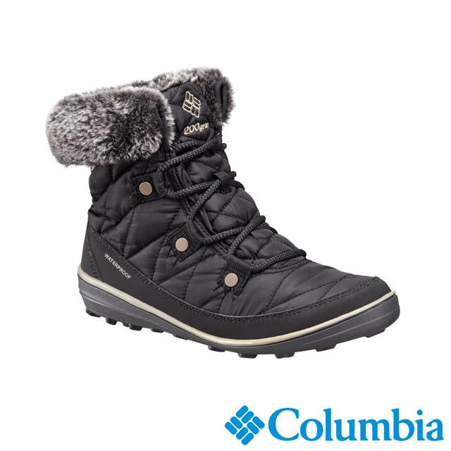 Columbia哥倫比亞 女款-OT防水保暖雪靴-黑色 UBL16520BK