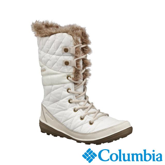Columbia哥倫比亞 女款-OT防水保暖雪靴-米白 UBL16610BG