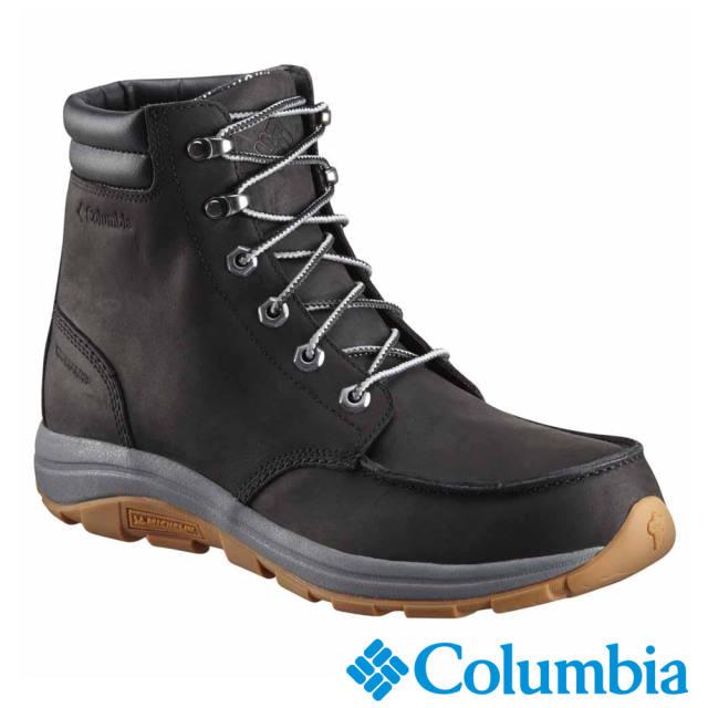 Columbia哥倫比亞 男款-鈦 OT防水保暖雪靴-黑色 UBM27710BK