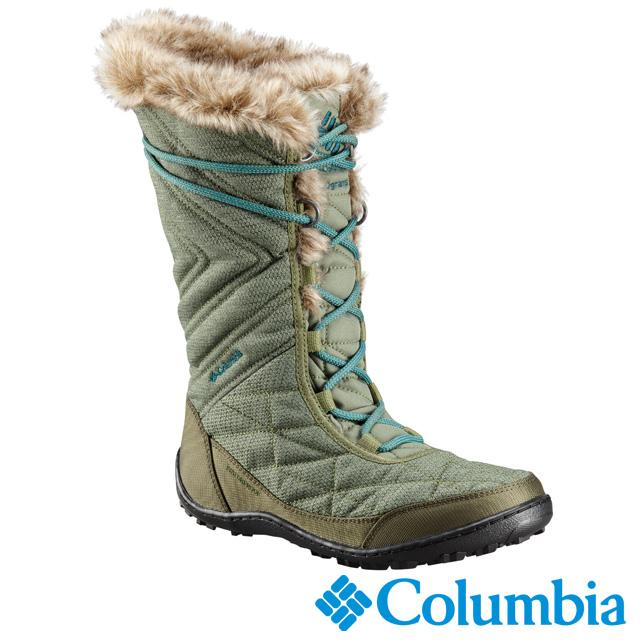 Columbia哥倫比亞 女款-OT防水保暖雪靴-苔綠色 UBL59630LC