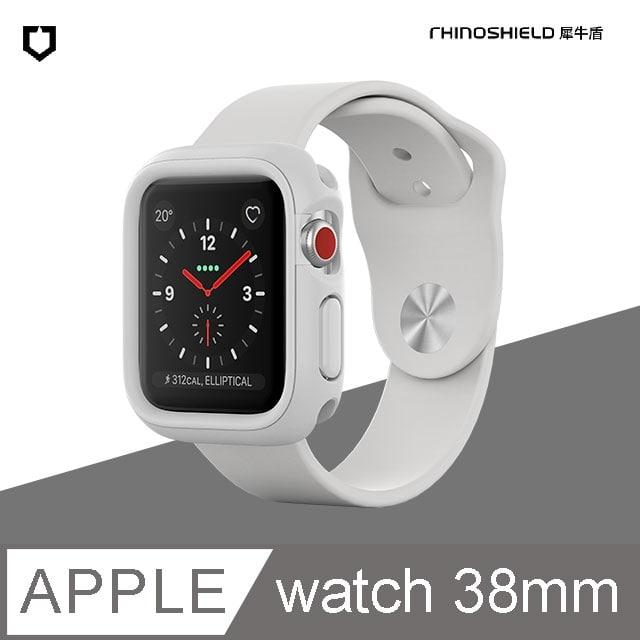 犀牛盾 Apple Watch (Series 1/2/3) 38mm Crashguard NX模組化防摔邊框保護殼 白色