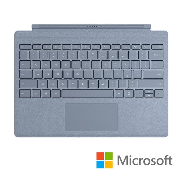 Microsoft 微軟 Surface pro 實體鍵盤保護蓋 冰雪藍色(FFP-00138)