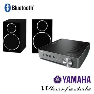 Yamaha 無線串流擴大機 WXA-50+Wharfedale 書架型喇叭 Diamond 210