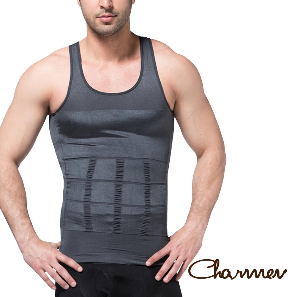 Charmen 坦克加壓版背心 男性塑身衣 灰色