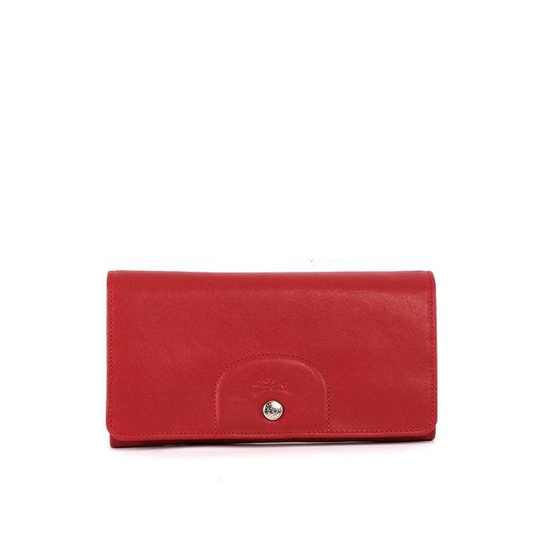 LONGCHAMP 小羊皮對折長夾(紅色) 3146737045