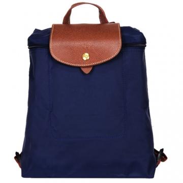 LONGCHAMP Le-Pliage拉鍊後背包(藍)