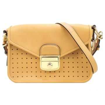 Longchamp MADEMOISELLE 打孔斜背包-棕色
