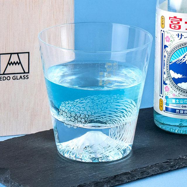 【田島硝子】富士山杯 限定款 海浪杯 神奈川巨浪 威士忌杯 酒杯(TG20-01-NAMI)