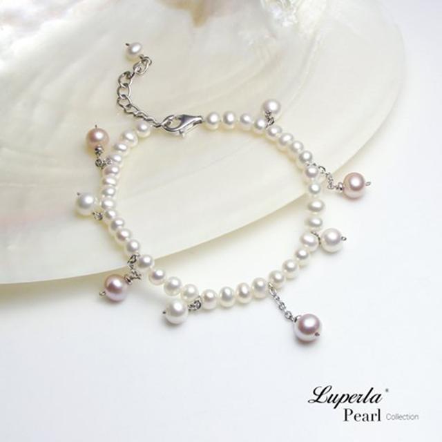 【大東山珠寶】濃情 混彩天然淡水珍珠純銀手鍊