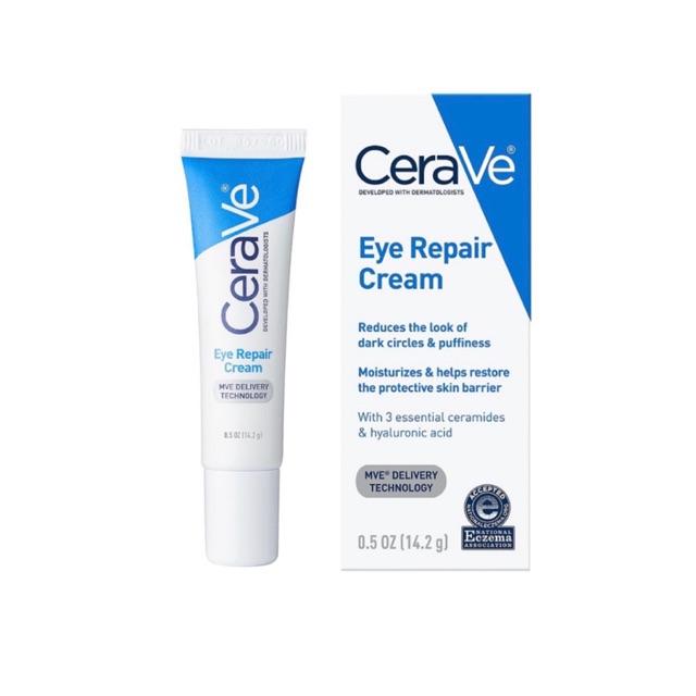 美國品牌 CeraVe Eye Repair Cream 玻尿酸靚亮修復眼霜 14.2g