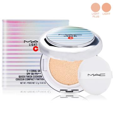 M.A.C 超顯白氣墊粉餅SPF50/PA++++12g(蕊心+粉撲+粉盒)多色可選贈專櫃精華液試用包(隨機)X1-百貨公司貨