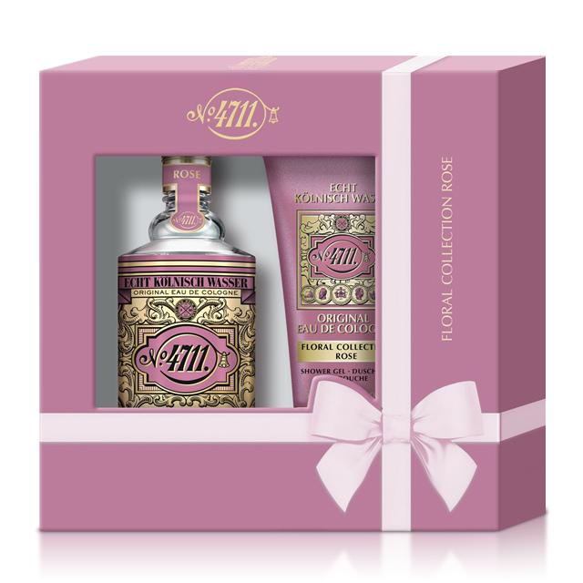 No.4711 Floral Cologne Rose 玫瑰古龍水禮盒(古龍水100ml+沐浴精50ml)