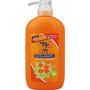 【日本 熊野】柿澀精華洗髮潤絲精 600ml/共兩罐